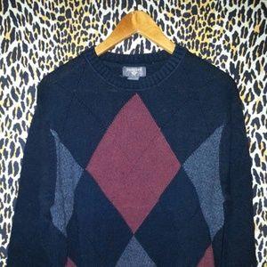 Men's Retro Style Crew Neck Dockers Sweater